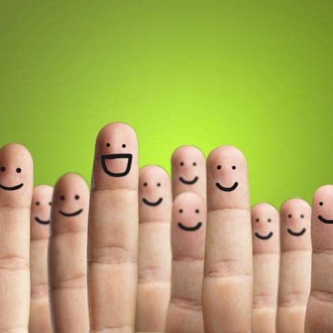 felicità con le dita